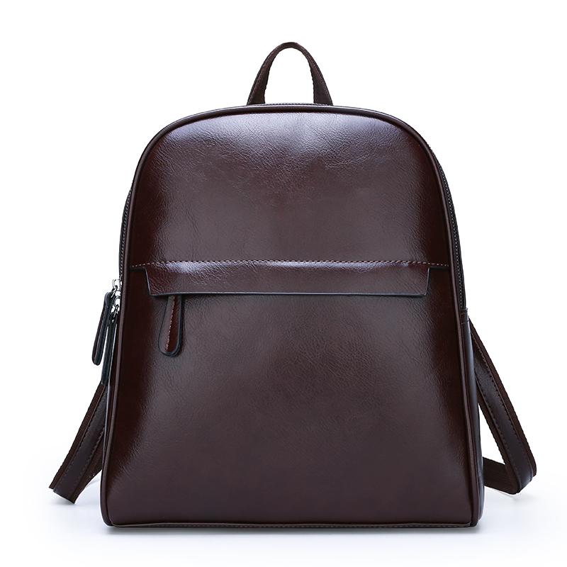 Oem изготовленный на заказ Роскошный мини коричневый ПУ рюкзак стильный кожаный рюкзак для женщин