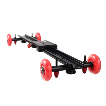 "High Quality 24"" / 60 CM Rail Sliding Mute Roller Dolly Track Video Camera Slider With Wheels"