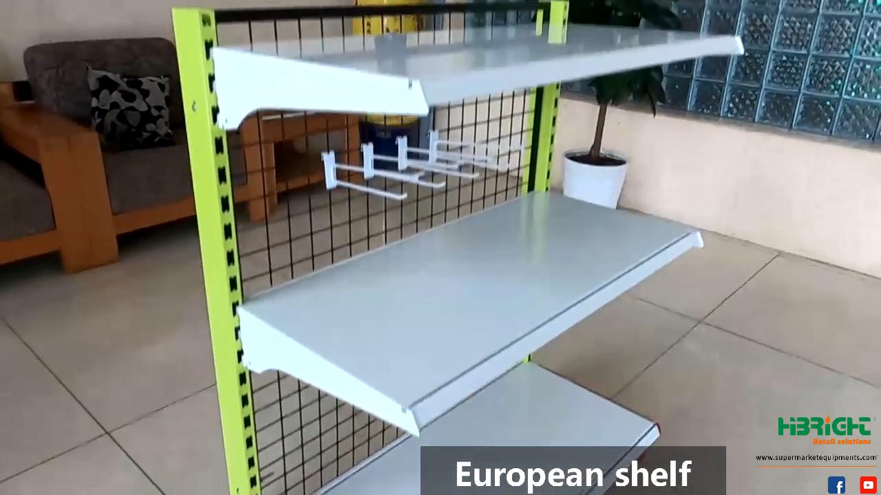 Space saving luxurious high load capacity chipboard 4 floor One dollar shop shelf