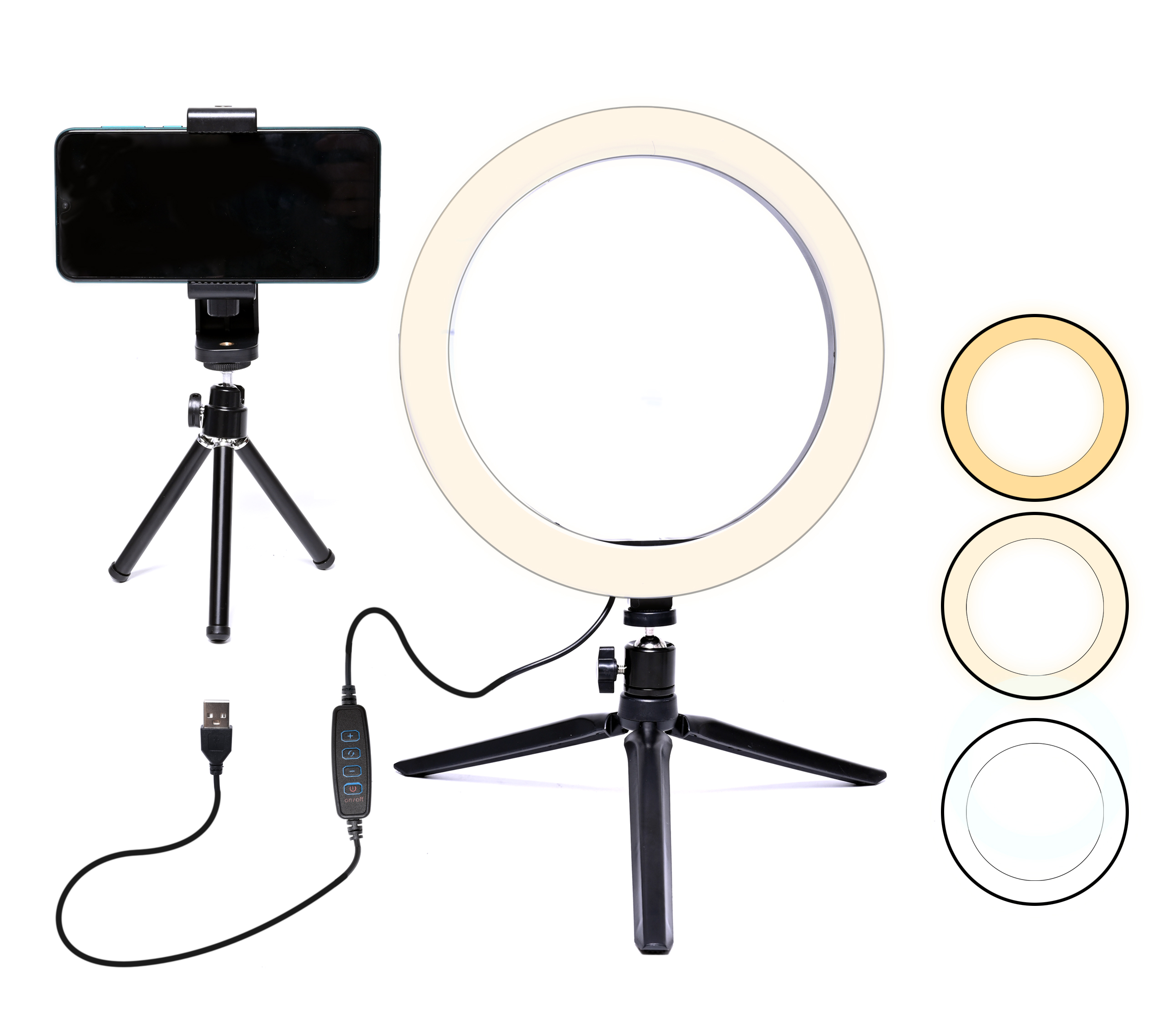 8 inch Dimmable Makeup Camera Ring Light LED Ring Light Selfie Ring Light with Tripod Stand Ringlight For Youtube Live Streaming