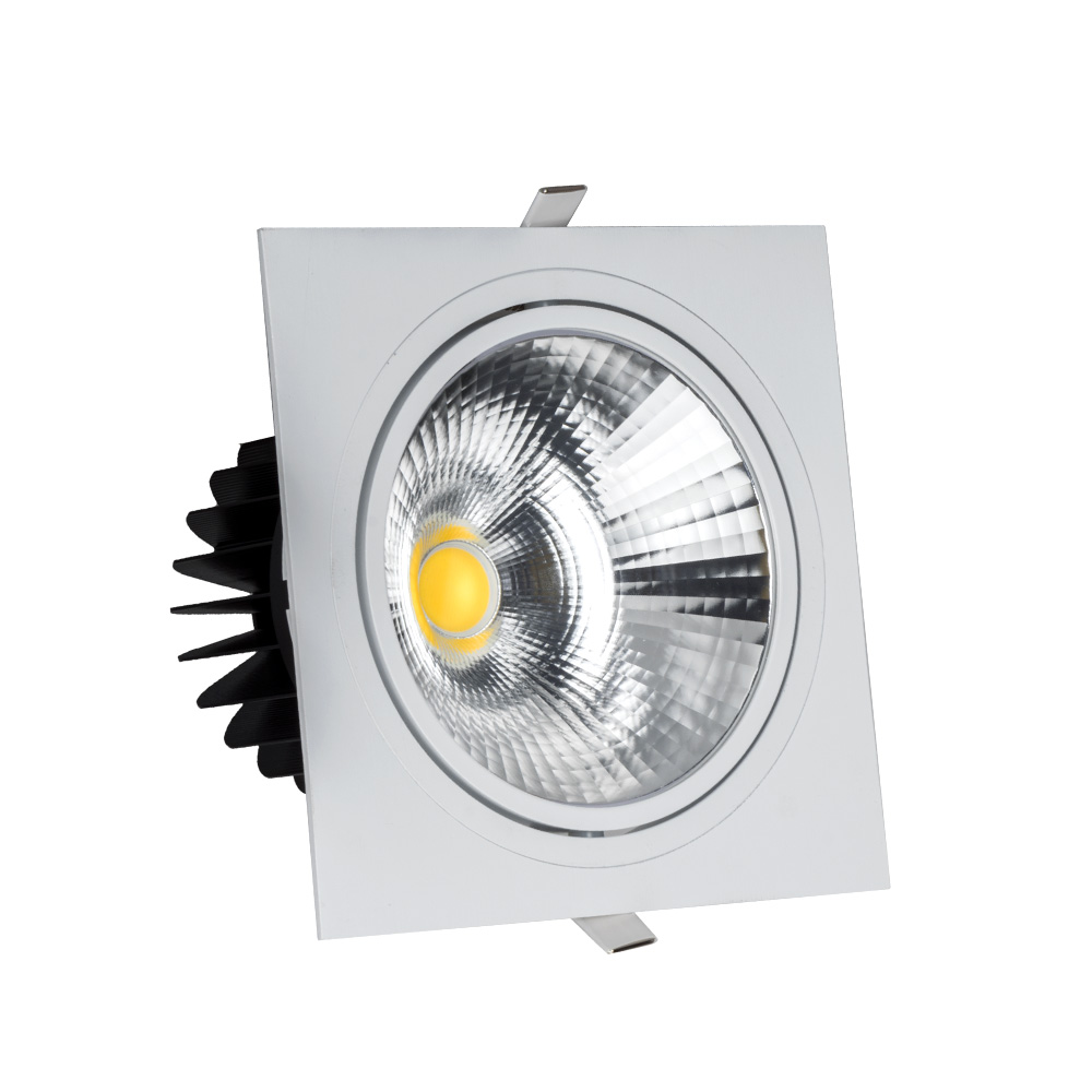 High quality guaranteed IP44 CRI80/90/96 flicker free beam angle adjustable 40w square led <strong>downlight</strong>