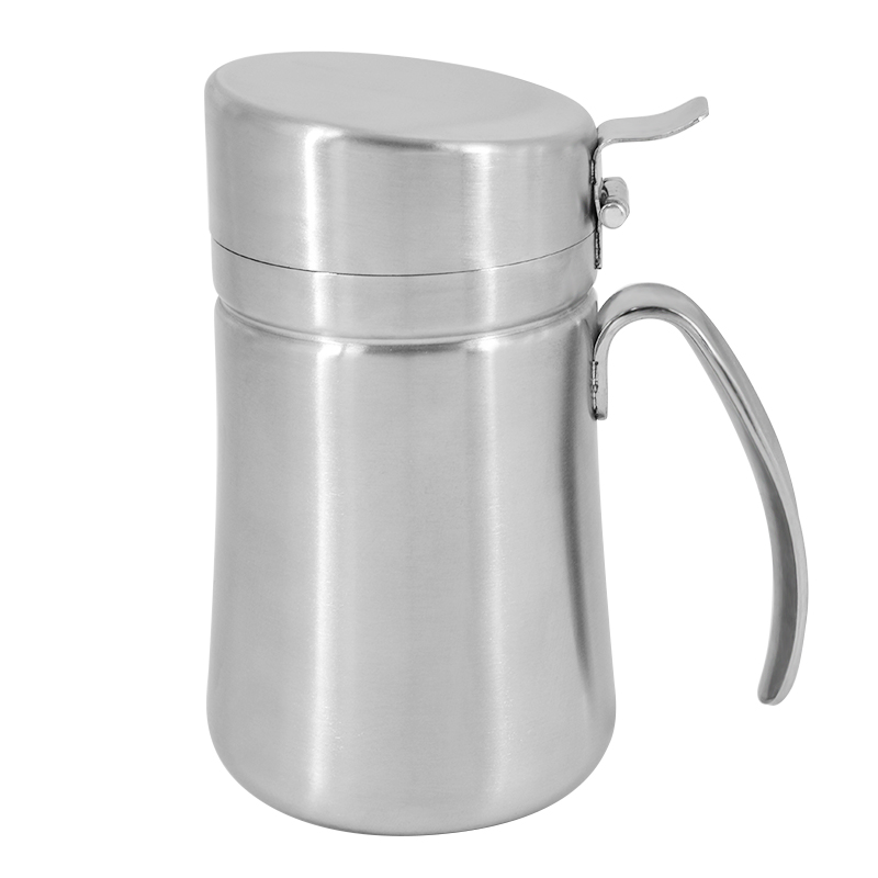 304 Stainless Steel Olive Oil Dispenser Bottle Kitchen Oil Can Dispenser with handle