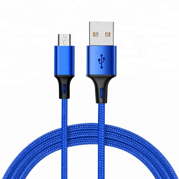 Mini Durable Nylon Braided Usb 3ft Charging Cable Charger v8 Android Type c Cargador Carga Rapida Usb Cable For Iphone