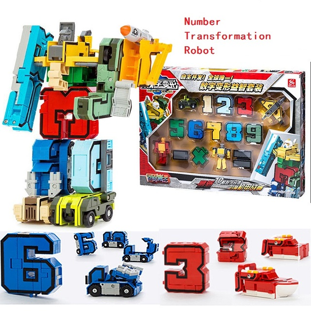 15p Magic Numbers Transformation Letters symbol Assembly Anime Deformation Robot