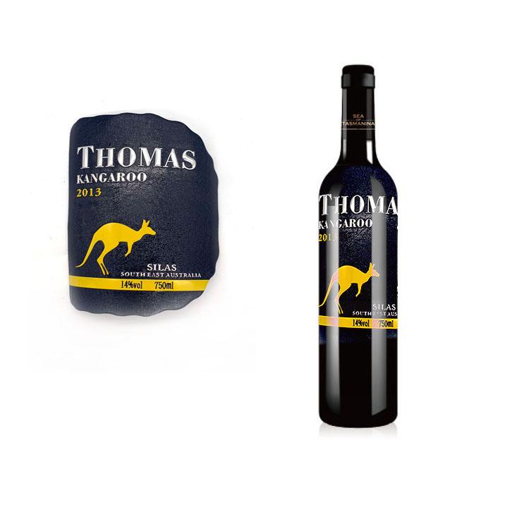 Garrafa de vinho de alumínio etiqueta diy etiqueta adesiva de papel impresso para o vinho mini personalizado rótulos de vinhos