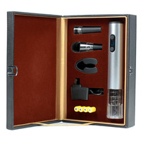 Best Sellers in USA 2019 Amazon Merchandising Promotion Wine Electric Corkscrew Opener Wine Accessories Set Leather Box Packaged