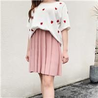 Venda quente da moda verão saia curta plus size saia plissada mulheres mini saia