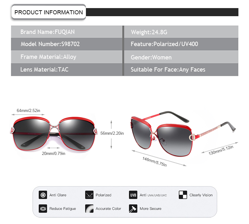 Fuqian Latest fashionable women's sunglasses Suppliers for women-11