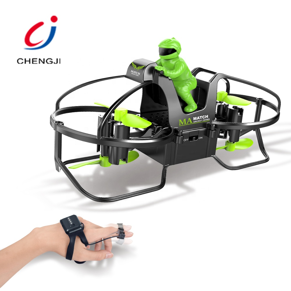 Mini flying motorcycle shape fashion racing plastic rc drone quadcopters