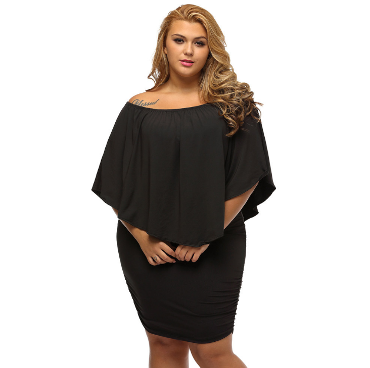 Plus Size <strong>Women</strong> <strong>Clothing</strong> Flared Sleeve <strong>Lace</strong> Dress Printed Maxi Dress Short Sleeve