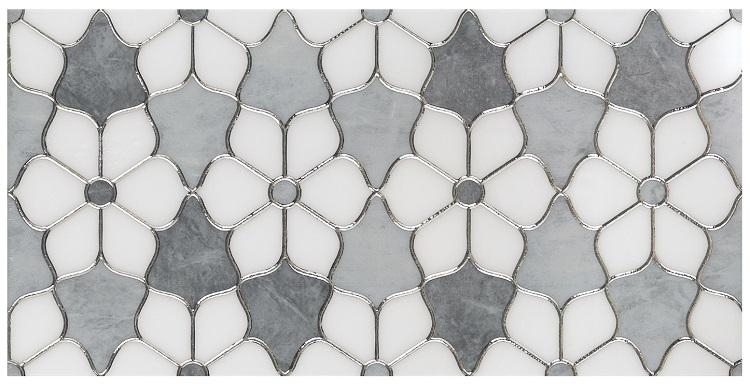 hot selling Water jet Mosaic Tile Water jet design porcelain tiles new water jet pattern decor tile