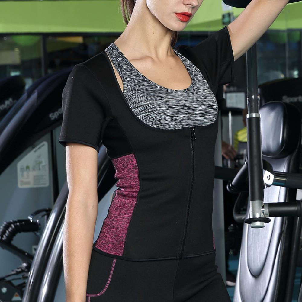 New Women Hot Sauna Sweat Slimming Neoprene Shirts Sport Workout <strong>Weight</strong> <strong>Loss</strong> <strong>Corset</strong> Top