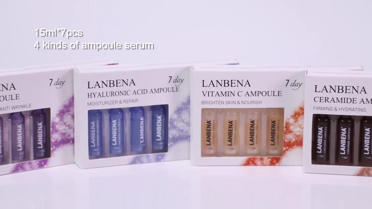 LANBENA 7日美白ビタミンC VC顔エッセンスアンプル在庫