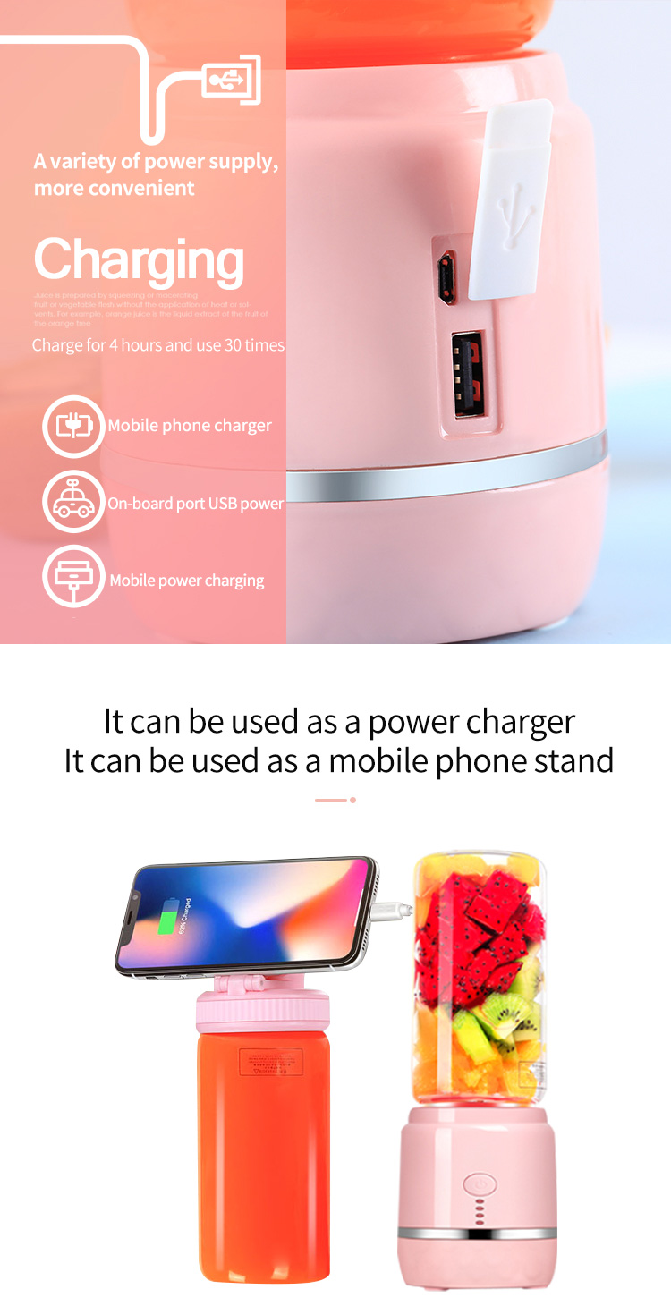 Electric Mini Usb Portable Blender And Juicer Commercial Food Mixer Fruit Cup