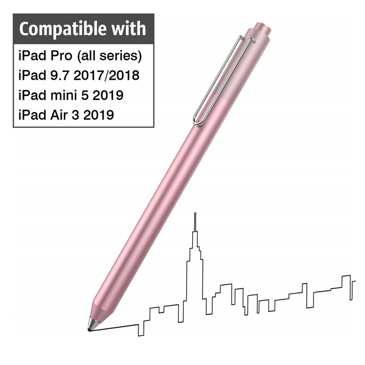 MoKo High Sensitivity Rechargeable Pencil Capacitive Digital Pen Active Stylus Pen for ipad
