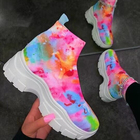 2020 new fall winter good quality colorful shoes casual fashion breathable popular high heal women wholesale sneakers