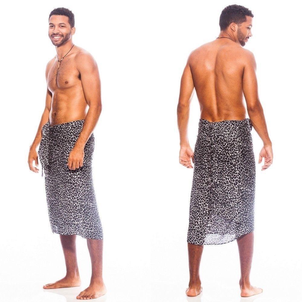 Custom logo design summer fashion beachwear pareo floral printed beach lavalava hawaiian sarong for men