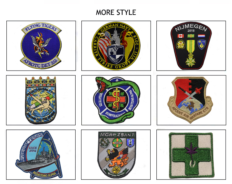 Cloth Custom Woven Patch/emboridery military 3D PVC patch silicon patch for clothing