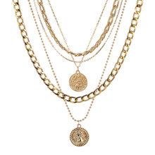 Ожерелье с подвеской ZOVOLI в стиле панк для женщин и мужчин, золотые длинные цепочки, стимпанк, Висячие ожерелья 2020, модные хип-хоп ювелирные у...(Китай)