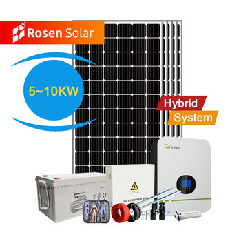 Rosen 8Kw Off Grid Hybrid On Grid Hybrid Solar Power System