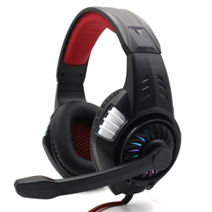 RGB Stereo Gaming Headset Wired Headset Headphones With 40mm Driver Comfortable Adaptive Earmuffs Volume Control