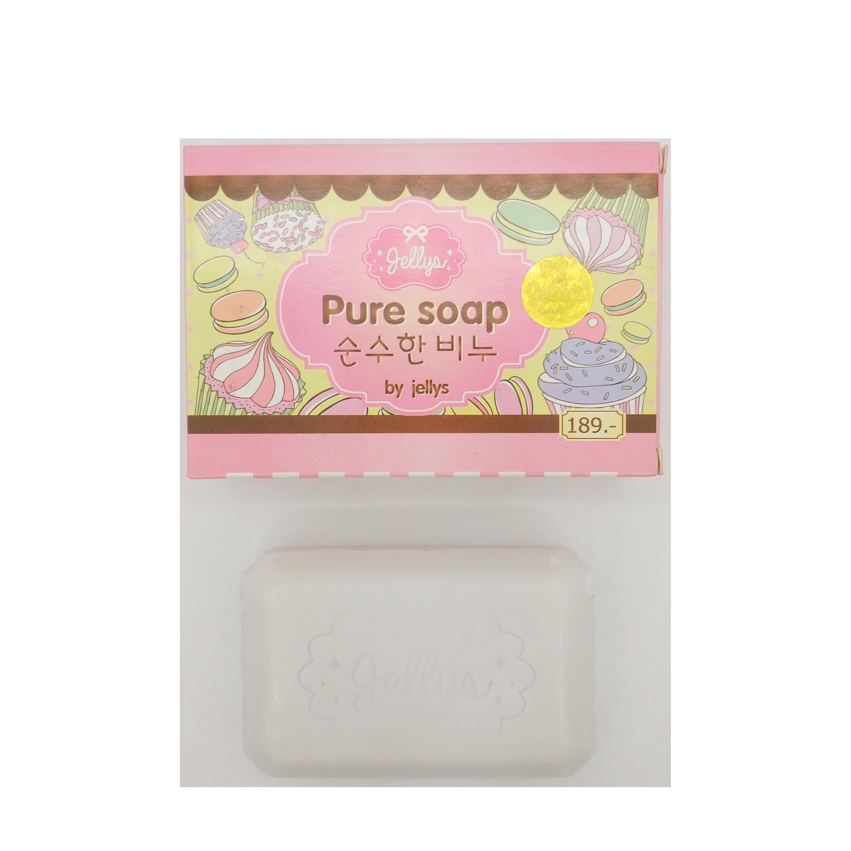 100g gluta blanco de aligeramiento de la piel jellys aceite de coco puro jabón orgánico