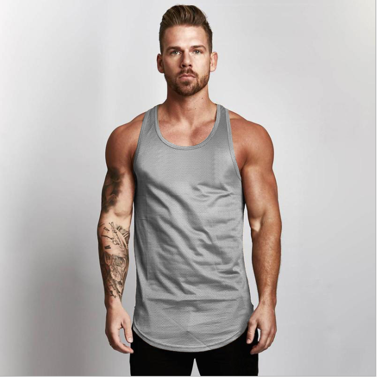 High Quality plain gym vests 7