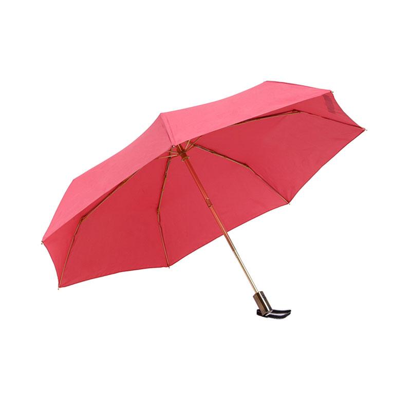 คุณภาพสูงGoldenกรอบสิทธิบัตรReboundingสีแดงAutoเปิดปิดร่ม