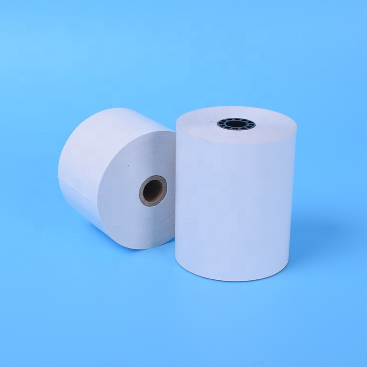 BPA free cash register thermal paper rolls 80x80 12 core pos paper roll 3 1/8 x 230