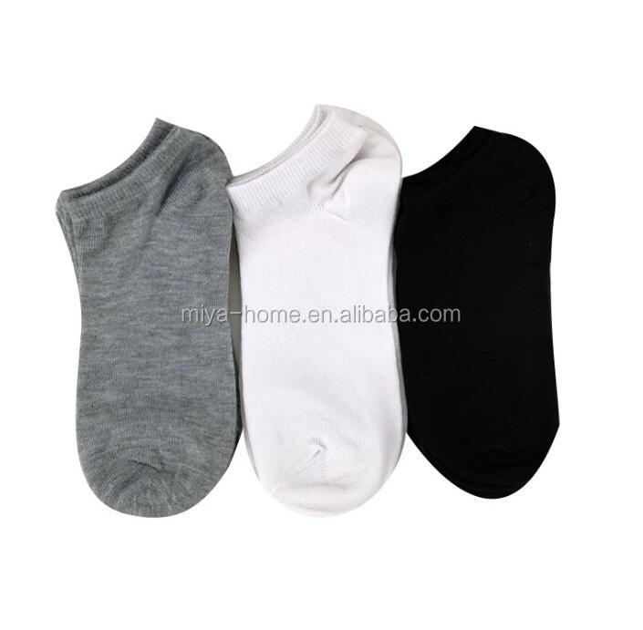 wholesale men short boat socks / female solid color shallow socks