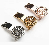 18mm deployment butterfly buckle watch strap clasp for luxury watch patek