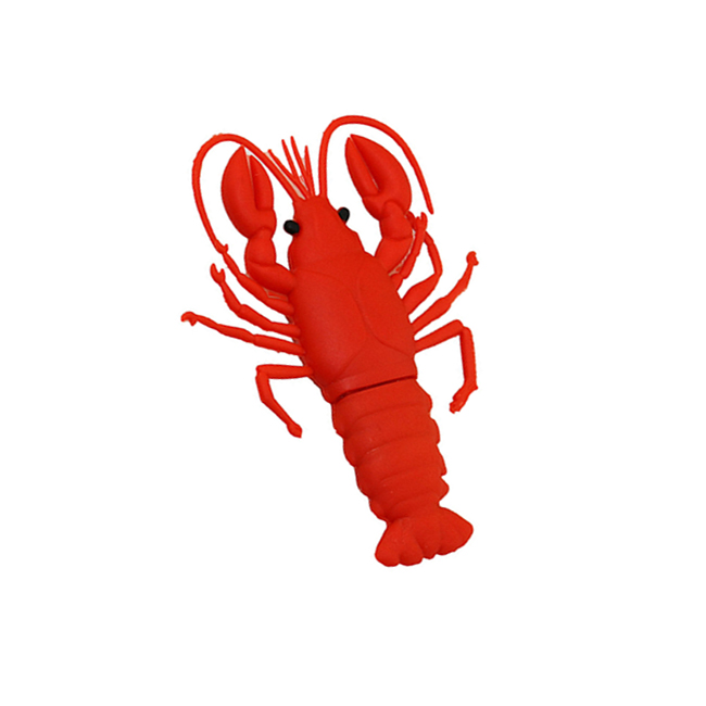 Cheap bulk novelty Cartoon lobster 2GB 4GB USB keys 2.0 shrimp Silicone USB flash drive for lobster theme gifts