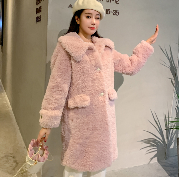 Durable Using Low Price soft Comfortable winter faux fur coat led