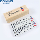 Domino Game Dominoes Dominoes Indoor Wooden Domino Box Game Educational Dominoes Set Game For Adult And Children
