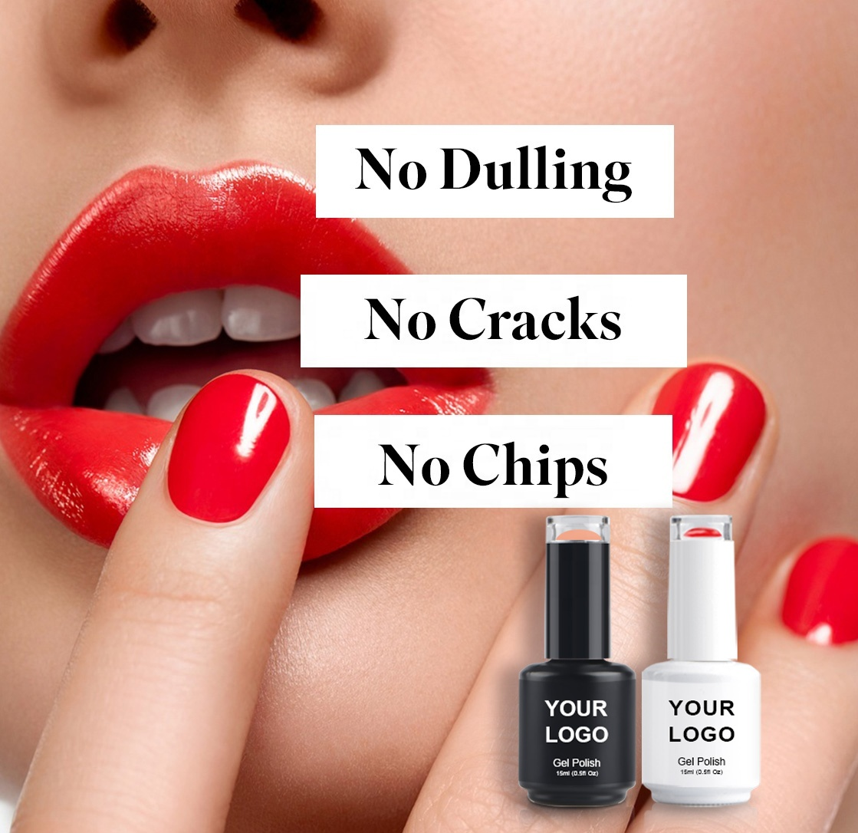 Free sample private label wholesale color soak off uv gel nail polish