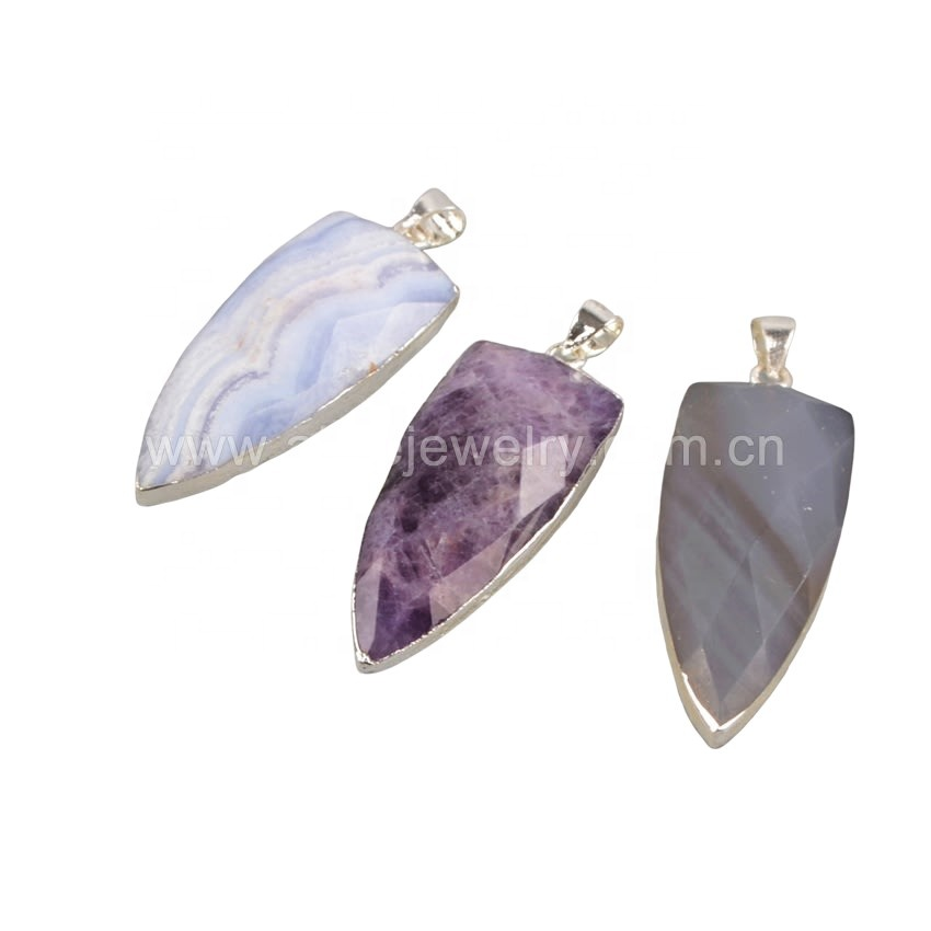 SS159 925 sterling silver <strong>natural</strong> gemstones <strong>pendant</strong> <strong>amethyst</strong> stone crystal <strong>pendant</strong> 925 sterling silver jewelry