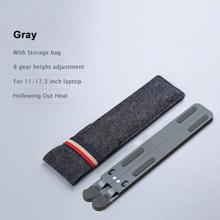 Портативная подставка для ноутбука из алюминиевого сплава 11-17,3 дюйма, складная подставка для ноутбука, подставка для Macbook Air Cooling Pad Riser(Китай)