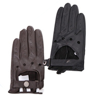 Custom Fashion men and ladies Brown Thin driving sport gloves