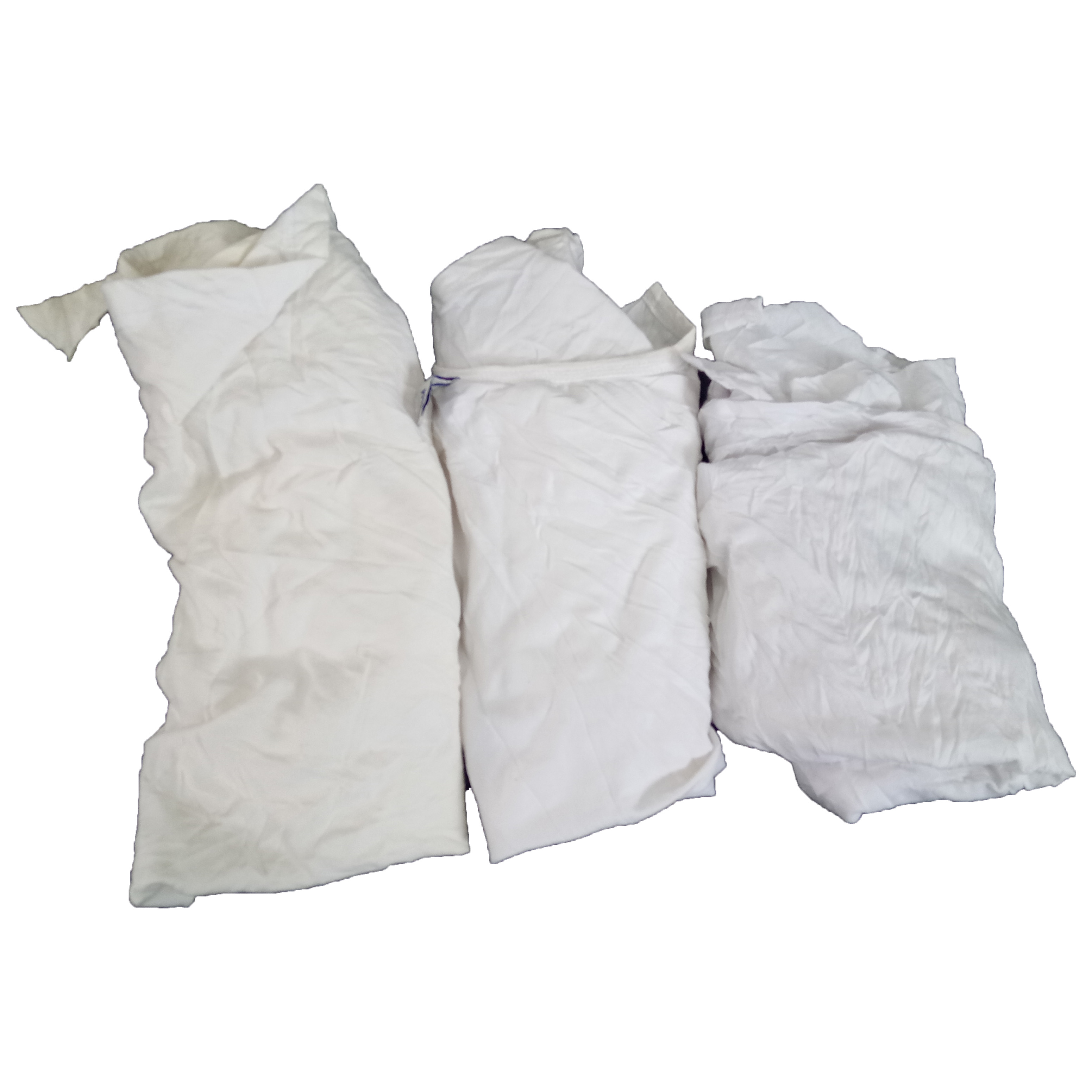 Used pure white t shirt absorb water and oil cotton wiping rags