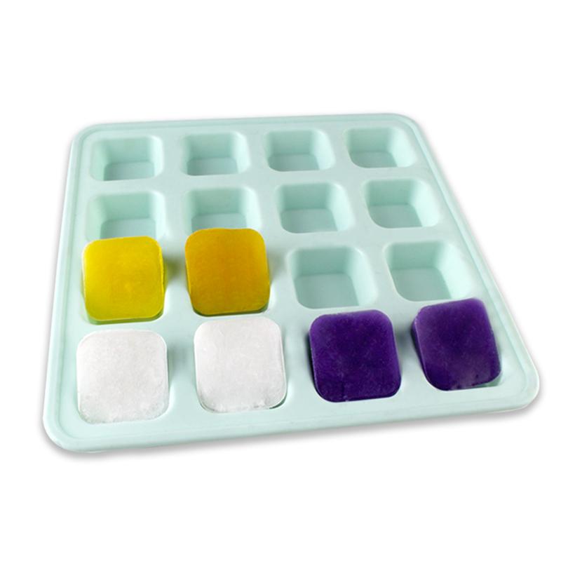 Molde de jabón cuadrado de silicona de 16 cavidades al por mayor libre FDA