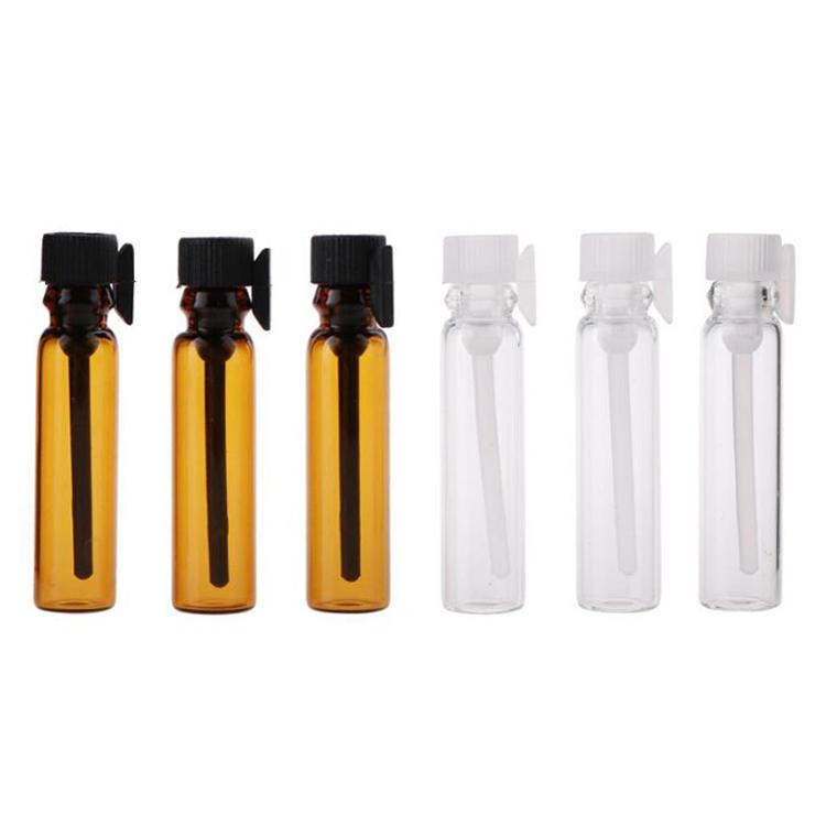 wholesale empty glass sample vials perfume bottle 1ml 2ml 3ml 5ml 10ml mini pocket glass perfume bottle