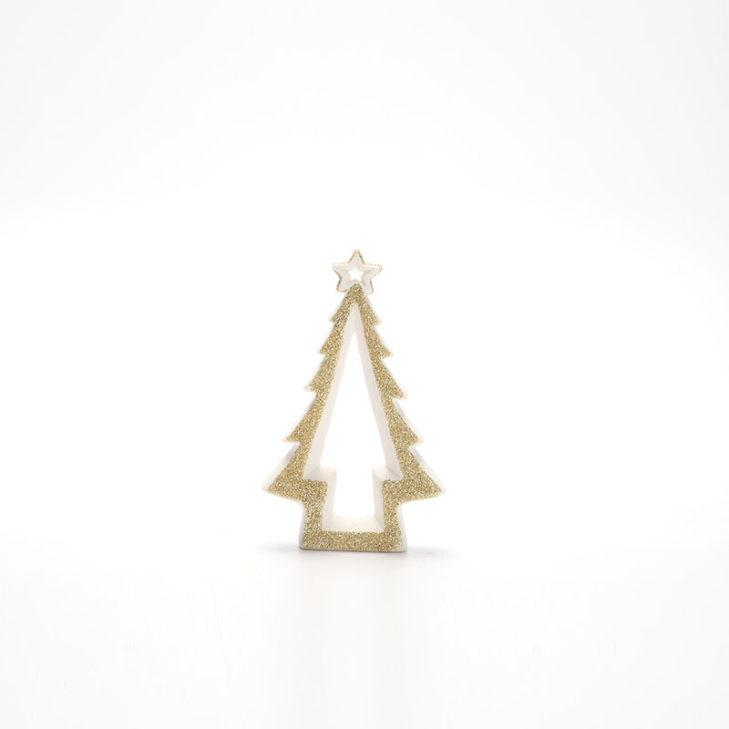 Promotion Porcelain star with Christmas tree Festival Home Decoration