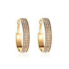 Модные Золотые Серебряные Серьги Brincos, простые серьги с кристаллами для женщин, свадебные ювелирные украшения, свадебные серьги для помолвк...(Китай)