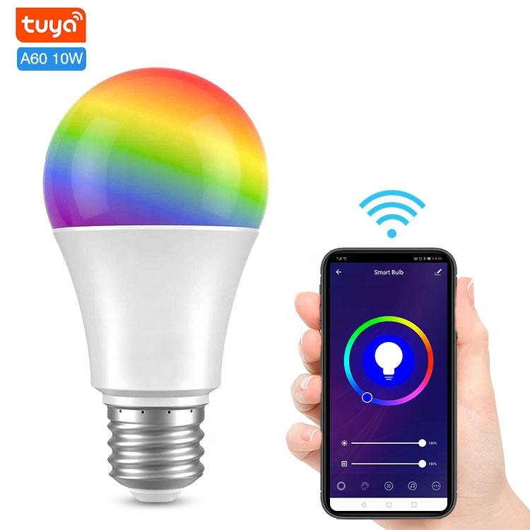 Tuya Wifi Landscape Light Bulb 8w 800LM A60 A19 Smart LED Bulb App Controlled Led Lights Alexa Bulb For home Hotel decoration