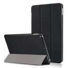 "Simple three fold stand PU leather hard case cover for iPad 9.7 9.7"" 2017 2018 universal with dormancy function"