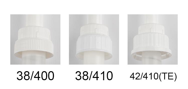 Umweltfreundliche kunststoff sauce pumpe spender kann für flüssigkeit lotion für gallonen 38-410 sirup pumpe