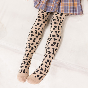 Uron Girls leggings children leopard pantyhose cotton baby socks