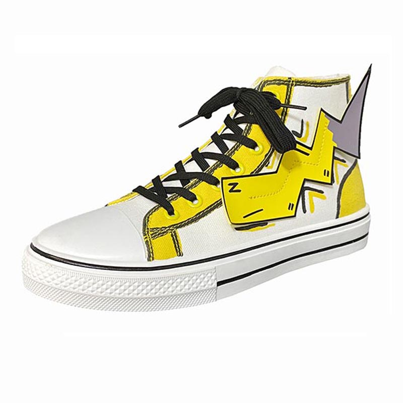 Painting Cartoon Casual Lace-Up Pumps High Top Low Top Trainers Teen Boy Canvas Shoes