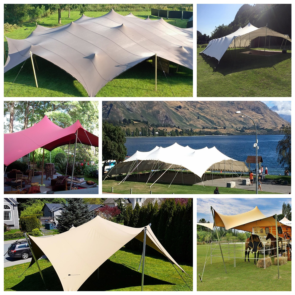 Factory garden outdoor catering wedding party events outdoor waterproof stretch tent material