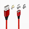Red,1 cable+3 plugs(micro,ios,type c)